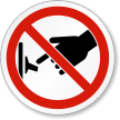 Do Not Turn On Switch ISO Prohibition Label