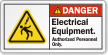 Electrical Equipment Authorized Personnel Only Danger Label
