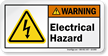Electrical Hazard ANSI Warning Label With Electrocution Symbol