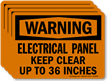 Electrical Panel Keep Clear Up To 36 Inches Label