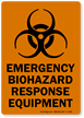 Emergency Biohazard Response Equipment Biohazard Label