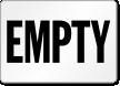 Empty Gas Cylinder Label