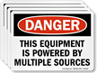 This Equipment Is Powered By Multiple Sources Label