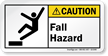 Fall Hazard ANSI Caution Label
