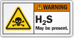 H2S May Be Present Poison Symbol Label