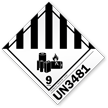 Class 9 Lithium Battery UN3481 Label