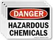 Hazardous Chemicals OSHA Danger Label