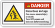 Hazardous Voltage Cause Severe Injury ANSI Danger Label