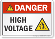 High Voltage ANSI Danger Label