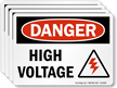High Voltage With Graphic OSHA Danger Label