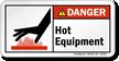 Hot Equipment ANSI Danger Label