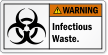 Infectious Waste Biohazard ANSI Warning Label