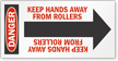 Keep Hands Away Arrow Label