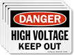 High Voltage Keep Out OSHA Danger Label