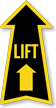 Lift Arrow Safety Label