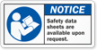 Safety Data Sheets Available Upon Request Label