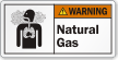 Natural Gas ANSI Warning Label