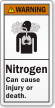 Nitrogen Can Cause Injury Or Death Warning Label