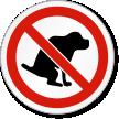 No Dog Poop ISO Prohibition Safety Symbol Label
