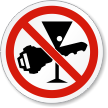 No Drink And Drive ISO Prohibition Symbol Label
