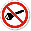 No Ignition ISO Prohibition Safety Symbol Label