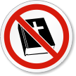 No Religion ISO Prohibition Safety Symbol Label