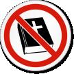 No Religion ISO Prohibition Safety Symbol Label