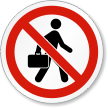 No Soliciting ISO Prohibition Safety Symbol Label