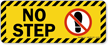 Tripping Hazard Safety Label