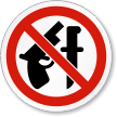 No Weapons Allowed ISO Prohibition Safety Symbol Label
