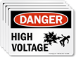 Danger High Voltage With Graphic OSHA Danger Label