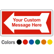 Personalized Text Safety Label with Left Arrow Symbol