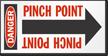 Pinch Point Danger Arrow Label