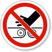 Pinch Point Hand Entanglement ISO Prohibition Symbol Label