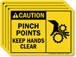 Pinch Points Keep Hands Clear Caution Label