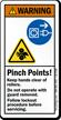 Pinch Points Follow Lockout Procedure Warning Label