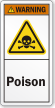 Poison ANSI Warning Label