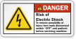 Risk Of Electric Shock Padlock Machine Danger Label
