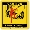 3 Point Contact Labels, Trailer Roll Up Door