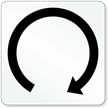 Rotate Right Symbol Label