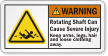 Rotating Shaft Cause Severe Injury ANSI Warning Label