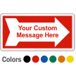 Customizable Safety Label with Right Arrow Symbol