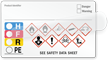 Self-Laminating GHS Hazard and HMIG Combo Label