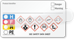 Self-Laminating GHS and HMIG Combo Label
