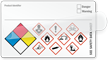 Self-Laminating GHS Hazard and NFPA Combo Label