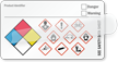 Self-Laminating GHS and NFPA Diamond Combo Label