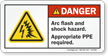 Arc Flash Shock Hazard PPE Required Label