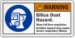 Silica Dust Hazard Wear Full Face Respirator Label