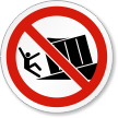 Unsupported Loading Dock ISO Prohibition Symbol Label