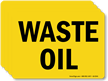 Waste Oil Chemical Hazard Label